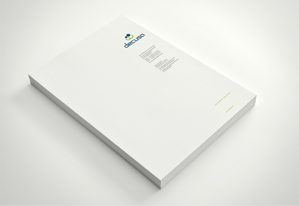 decusa, Corporate Design, Briefbogen