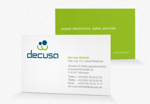 decusa, Corporate Design, Visitenkarte
