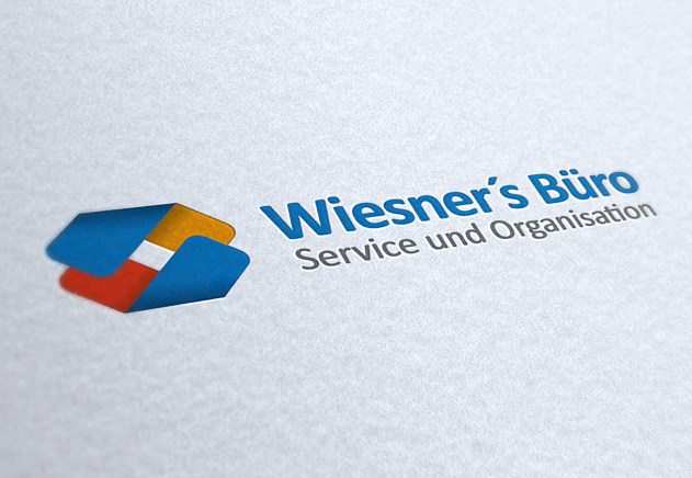 Büroservice Wiesner, Corporate Design, Logo Close-Up